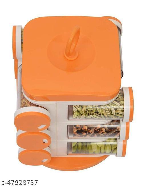 Multi Purpose Orange Spice Rack to Spice and Masala for Kitchen counter masala box