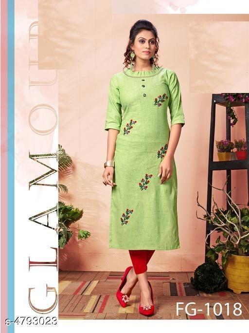 Women's Embroidered Khadi Cotton Kurti