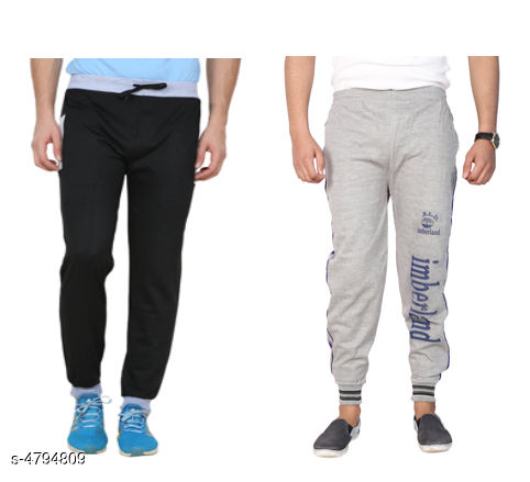Trendy Casual Hosiery Cotton Blend Track Pants(Pack Of 2)