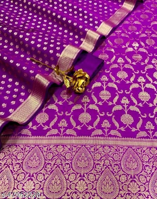 (13Purple) Weddings Special Banarsi Silk Suit And Dress Material
