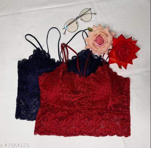 CLUMSKKI Women Trendy Lace Bra (Pack of 2)