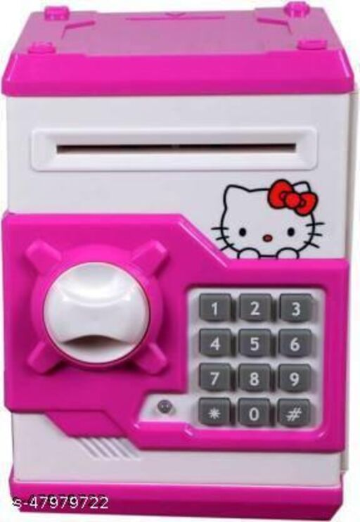 Aggrandize ATM for kids Anti theft Money Safe Kitty Coin Bank  (Multicolor)