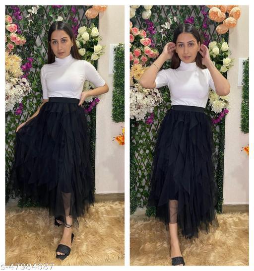 Gorgeous Modern Women Ruffle Skirt
