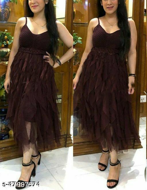 Crochet Net Women's Dresses
