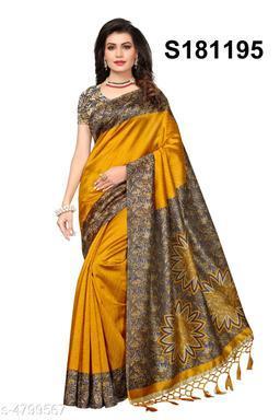 Parinaaz Fancy Mysore Silk Printed Saree