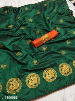 New Attractive Two Tone Sana Silk Women's Sarees