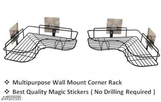 akshara enterprice bathroom matel corner holder pack of 2