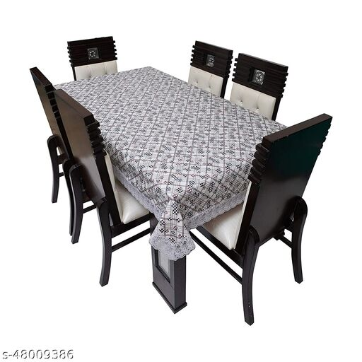 CASA-NEST 6-8 Seater PVC Table Cover; Anti Slip; 60x90 Inches; 6-8 Seater Design:-DC-13