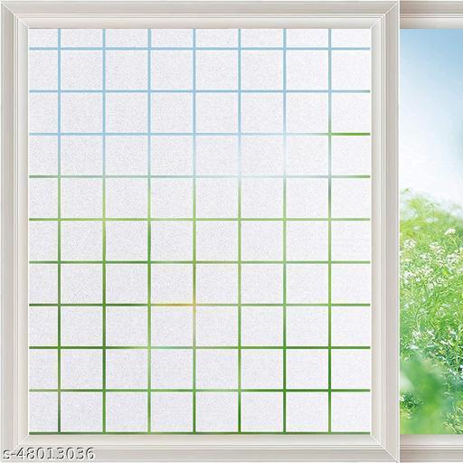 SIA VENDORS™ Squre Box 3D Printed Window Films Privacy Glass Film Self Adhesive Decorative Film for Bathroom/Door Window/Heat Control/Sidelight/Anti UV 20x40 Inches