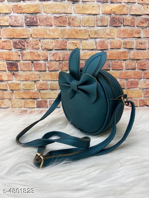 Attractive Women's Teal Faux Leather/Leatherette Slingbag