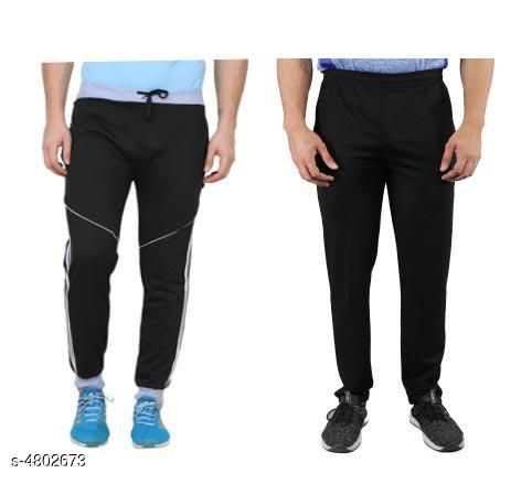 Trendy Casual Hosiery Cotton Blend Track Pants (Pack Of 2)