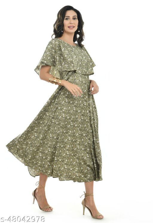 IQRA FASHIONS BEAUTIFULL WOMEN FLORAL DRESS