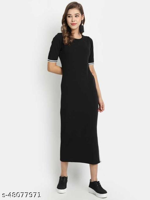 Golden Kite Black Women Sheath Dress