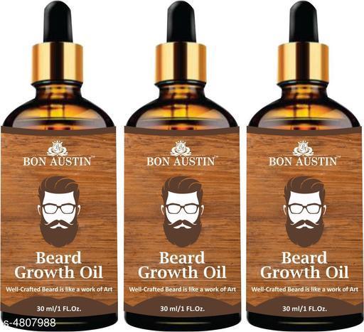 Bon Austin Beard Growth oil- For Stimulating Fast Beard Growth & to maintain Long Beard Combo pack of 3 Bottles of 30 ml(90 ml)