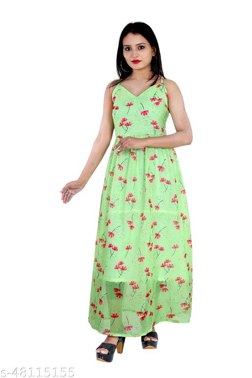 New Designed Digital Print Stitched Gown