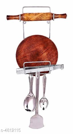 Chakla Belan Stand with Hooks
