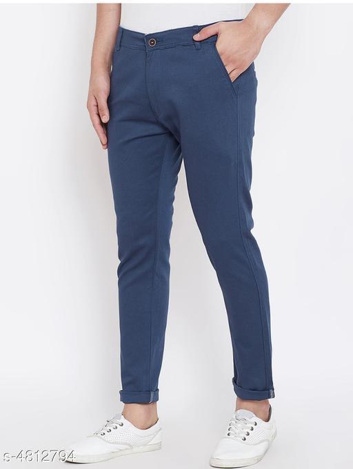 Trendy Stylish Cotton Men's Trouser