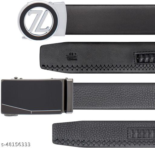 ThunderLook Mens Belt-BKL154-B1, BKL73-B4-G