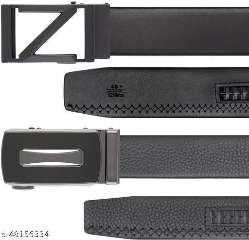 ThunderLook Mens Belt-BKL189-B1, BKL108-B4-G