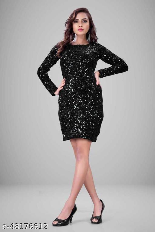 Women Sheath Black Dress