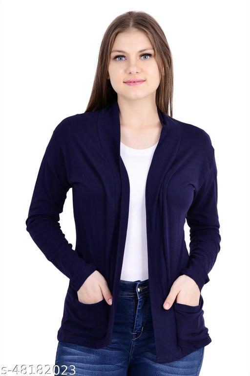 Stylish Glamorous Women Capes, Shrug & Ponchos (Navy Blue)