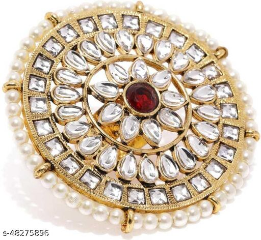 Kundan ring for women