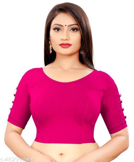 Stylish designer sleeve cotton lycra stretchable blouse