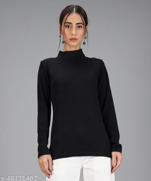 Christy World Casual Women Turtle Hight Neck Sweater
