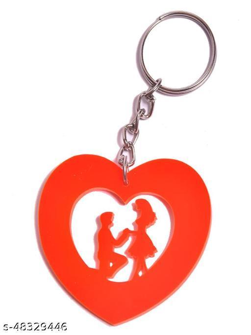 Shreyansh Novelties Plastic Acrylic Sheet Proposing Girl Boy Keychain For Men/Kids (Pack Of 1 Keychain)