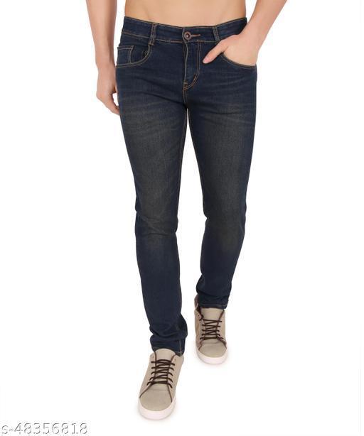 Trendy Denim Solid Men's Jeans