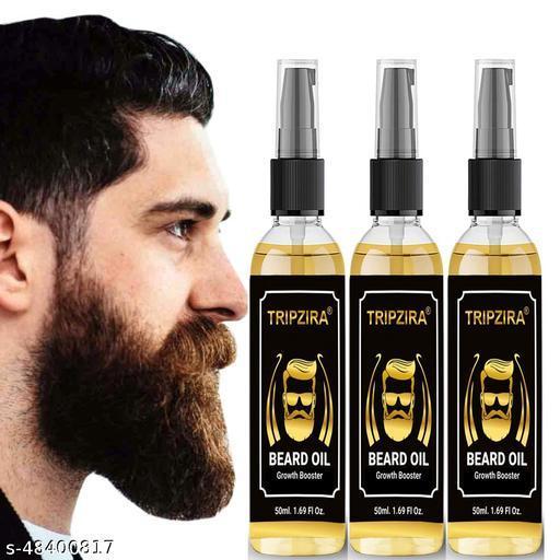 TRIPZIRA Advanced Beard Growth Oil For Men (SLS & Parabean Free)  (50 ML) PACK OF 3