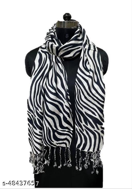 Zebra Black & White Shawl