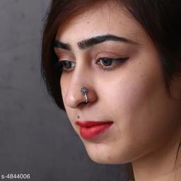 Women's Oxidised Silver Nosepins