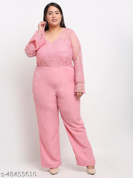 Flambeur Women's Casual Pink Jumpsuit