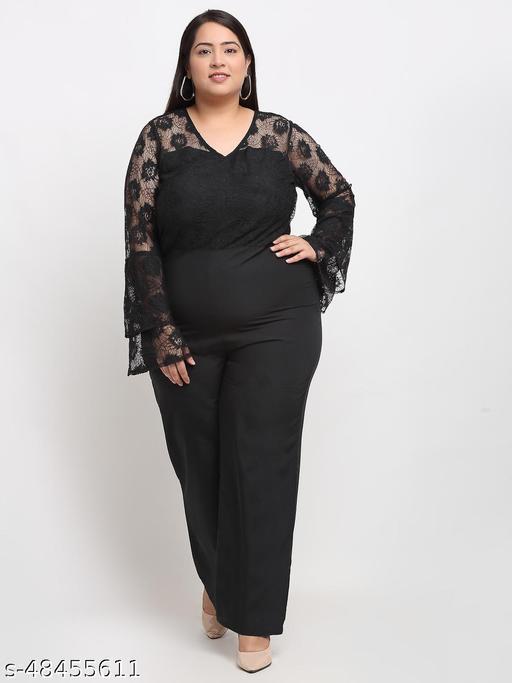 Flambeur Women's Casual Black Jumpsuit