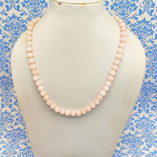 Satyam's Glass Peach Beads Neklace for Women