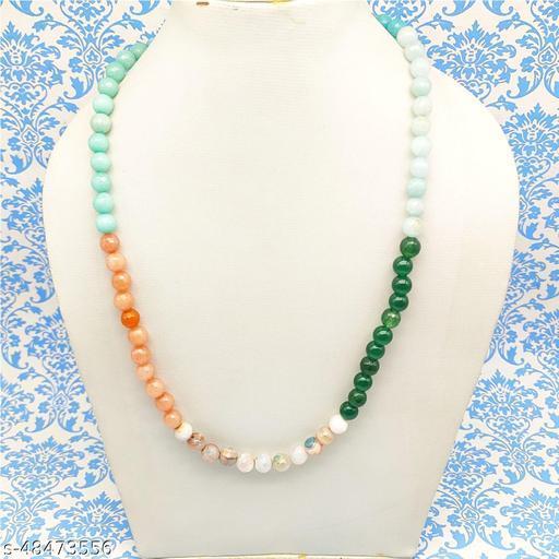 Satyam's Glass Multi Beads Neklace for Women