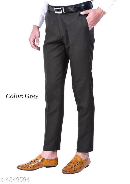 Stylish Polyester Viscose Men's Trouser