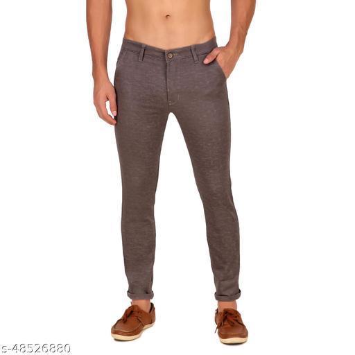 Delexo Men's Linen Casual Dark Grey Pants