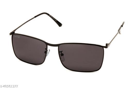 Jack Ryan UV Protective Rectangular Unisex Sunglassess-B80-402 C5 (Dark Grey Color)
