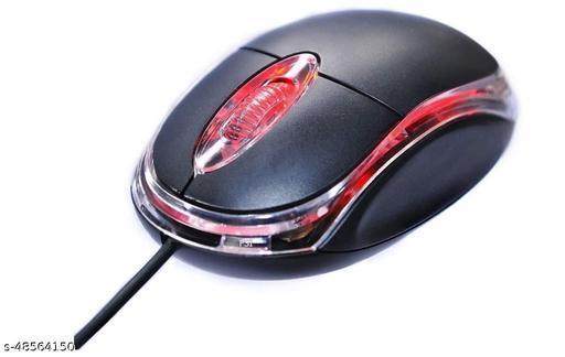 TERABYTE Optical Mouse Vintage Wired Mouse for Laptop, Computer & Desktop (Black)