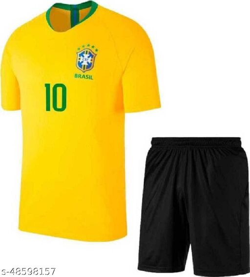 brazil football jersey with shorts