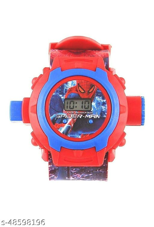 SF Live 24 Images Spiderman Projector Watch for Kids, Birthday Return Gift- Multi Color