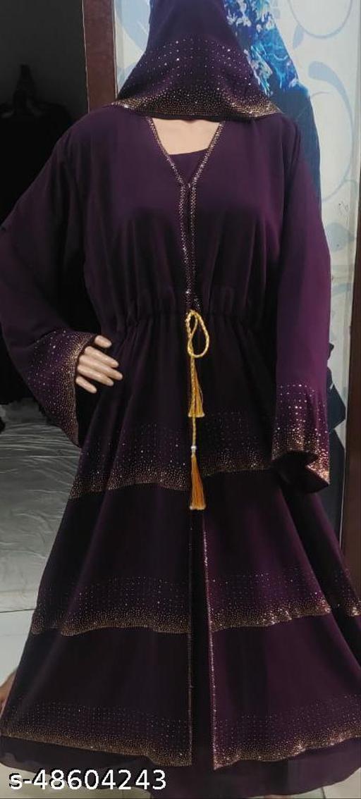heavy colour georgette abaya