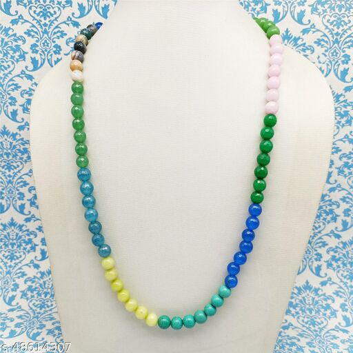 Satyam's Glass Multi Beads Necklace for Women