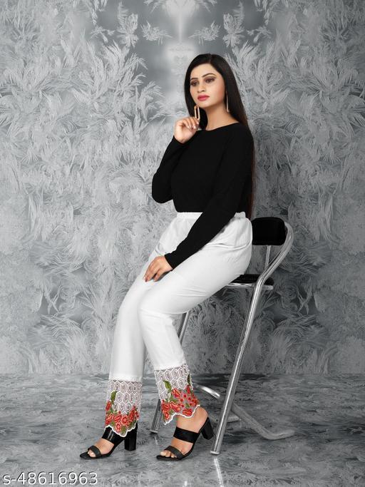 New Moti Designer White Colour Plazzo For Women