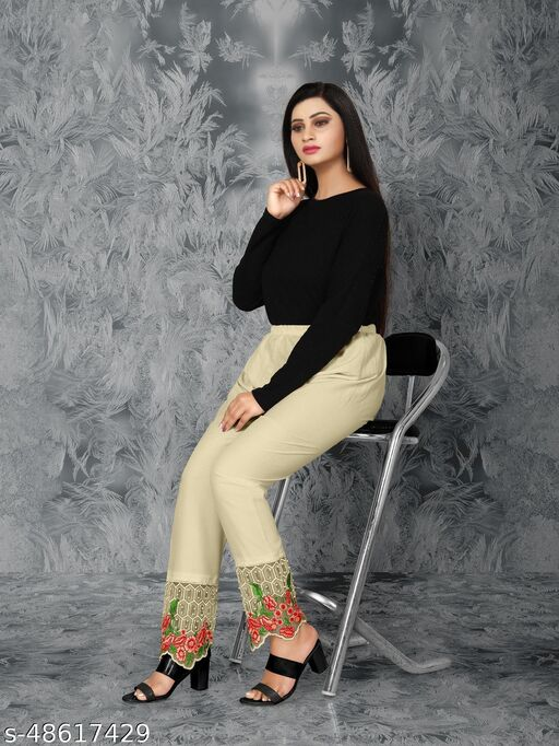 New  Designer Cream Colour Plazzo For Women