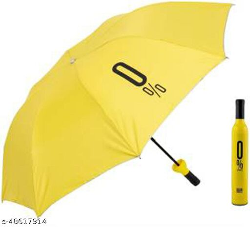 Double Layer Umbrella with bottle cover 3 fold Umbrella for Mens and Womens