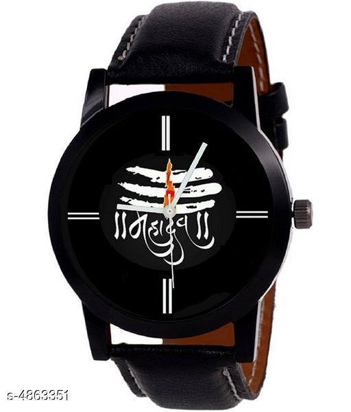 Trendy Stylish PU Watch