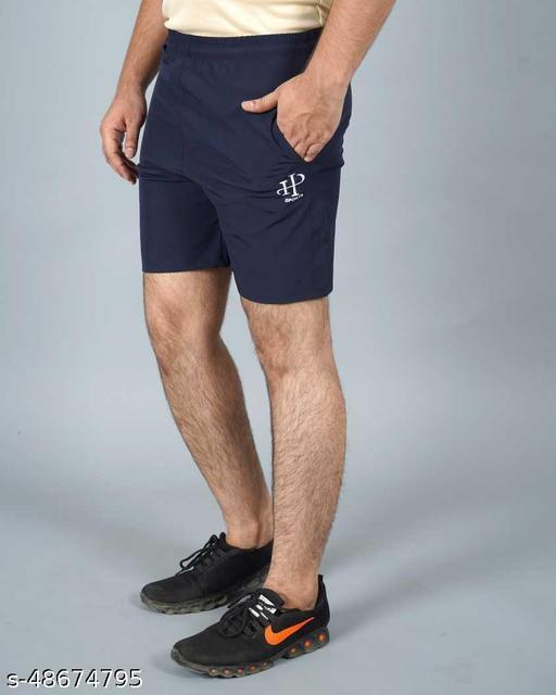 Solid Men Blue Regular Shorts